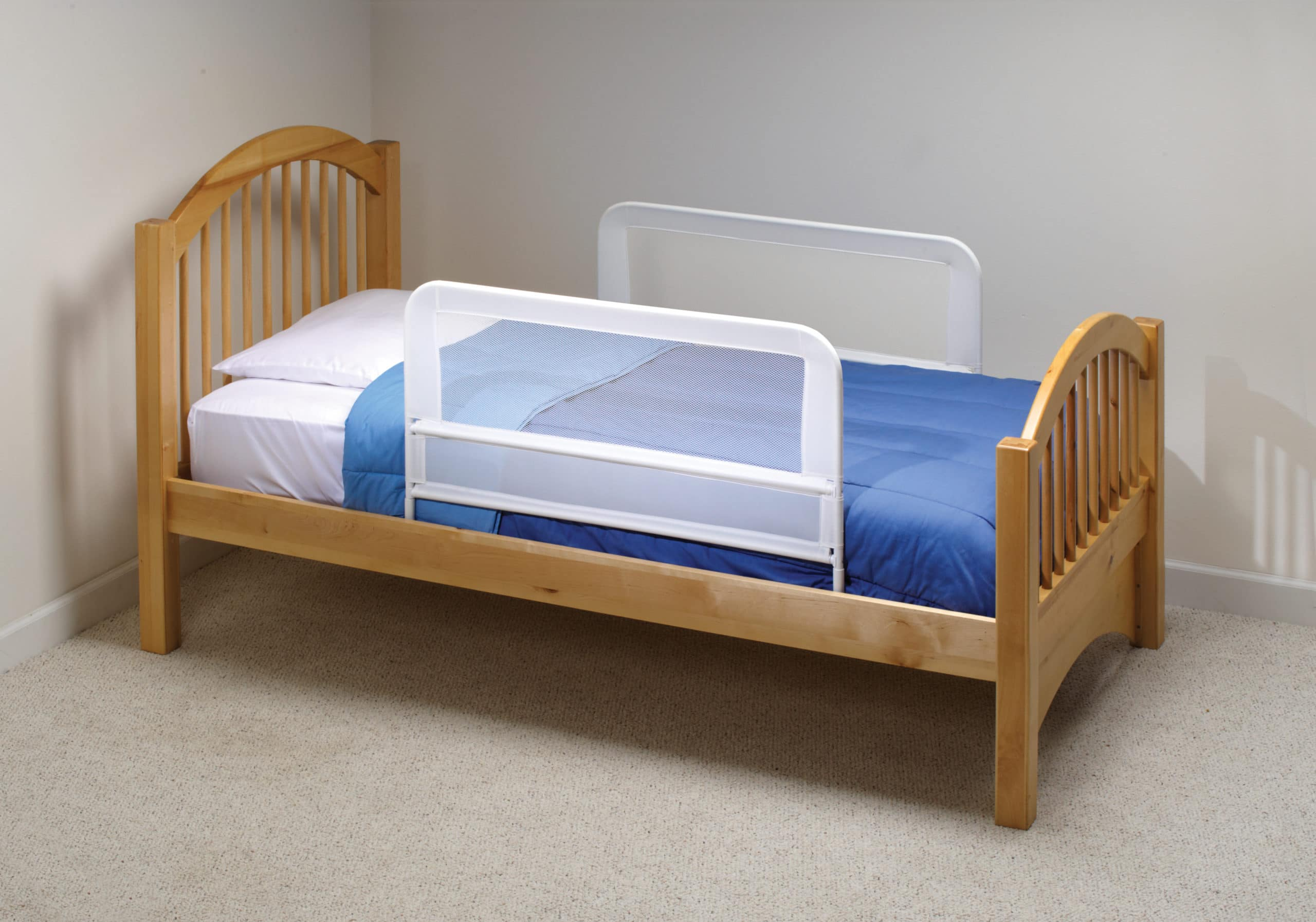 Childrens Mesh Bed Rail Telescopic Double Pack BR202 TwoRails 2 23