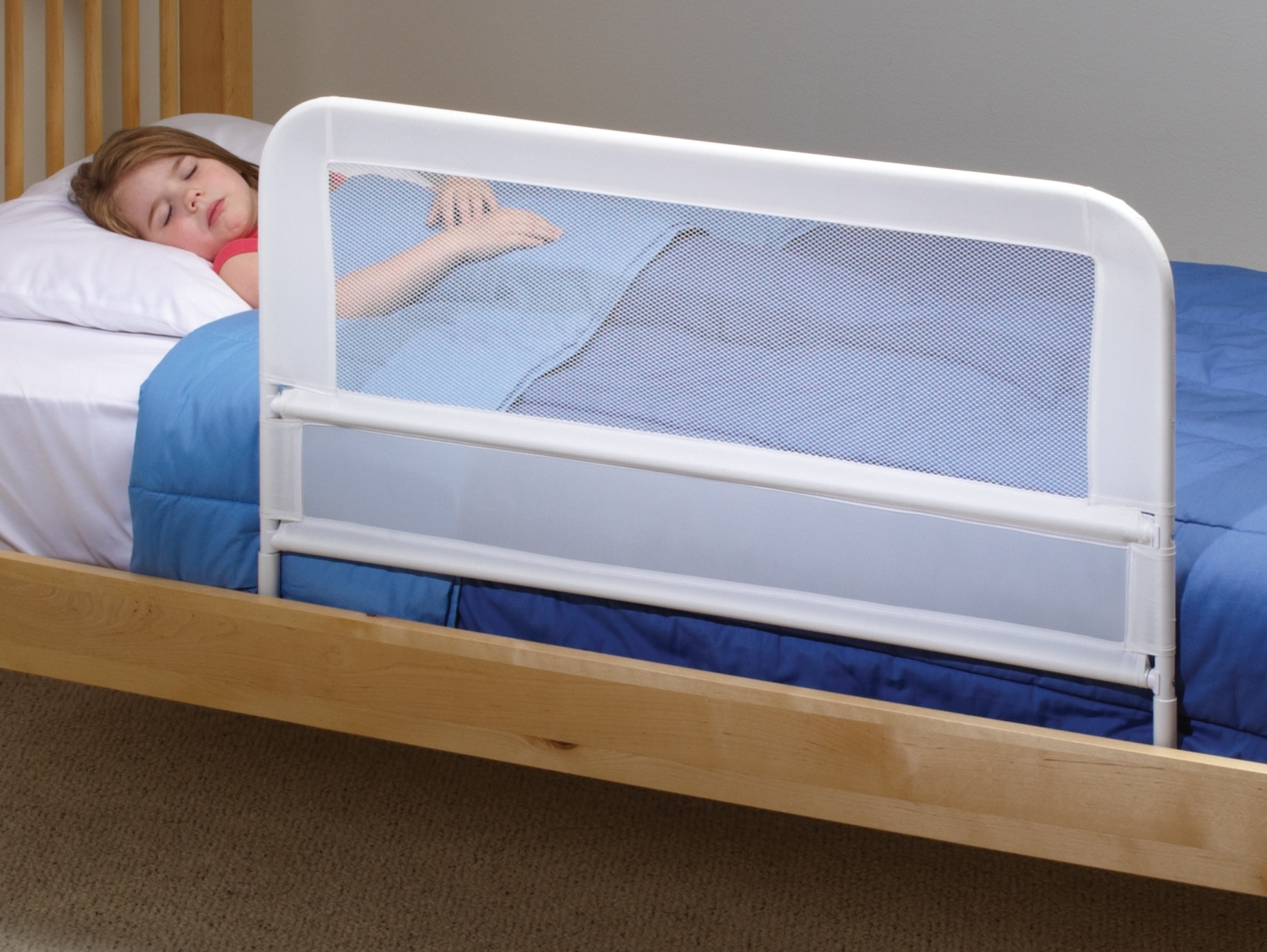 Children S Mesh Bed Rail Telescopic